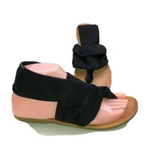 Dirty Laundry Womens Size 6 Black Thong Sling Back